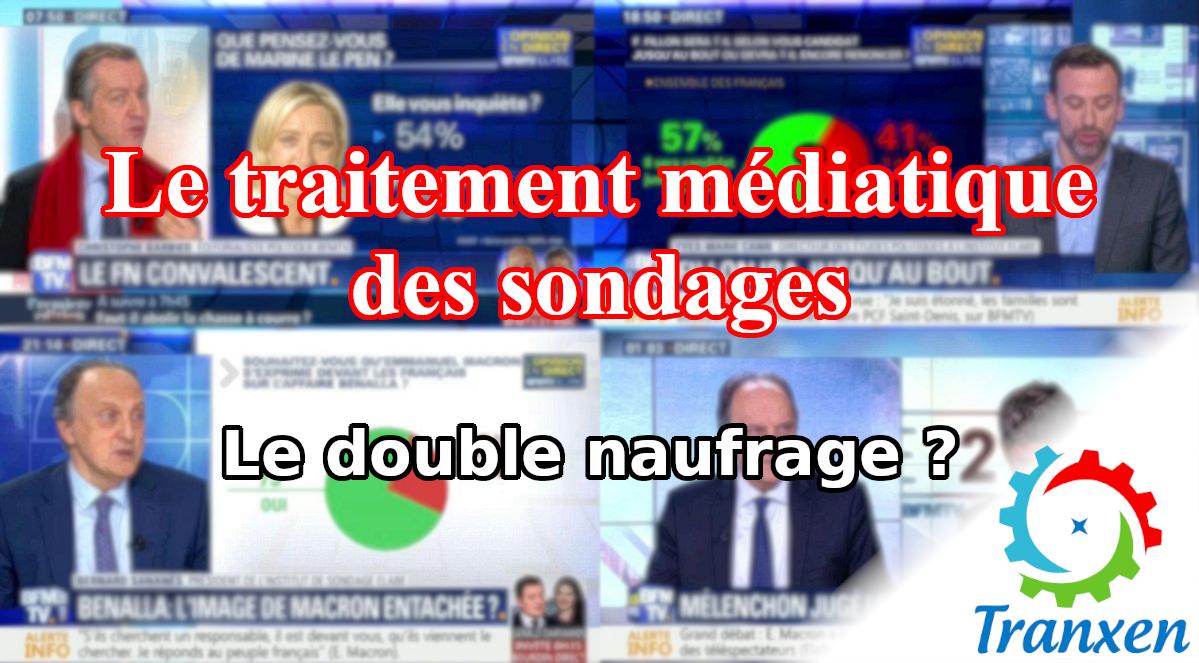 Le traitement médiatique des sondages, double naufrage ?